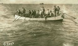 Boat with men Photo
