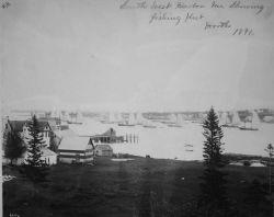 Southwest Harbor, ME, showing fishing hut, Worth, 1891. Photo