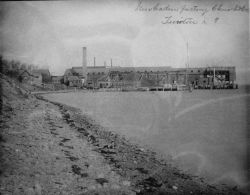 Menhaden factory, Church & Co., Tiverton, RI. Photo