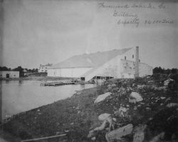 Fernwood Lake Ice Co., building capacity, 34,000 tons. Photo
