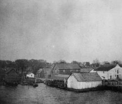 Fish houses and wharves, Edenton, NC. Photo