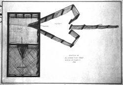 Sketch of Alaska fish trap, AK, Bureau of Fisheries, 1914. Photo