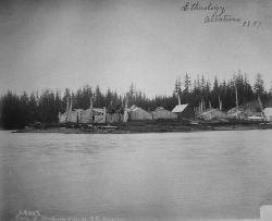 Ethnology, Albatross, 1897, part of Klinkuan village, southeast AK. Photo