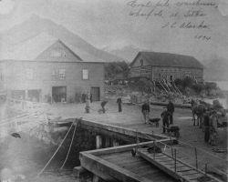 Coal pile, warehouse, wharf, etc Photo