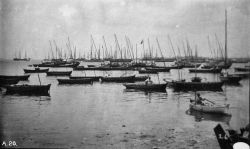 Boats, fishing boats in harbor as seen from the Market Place Bahia, 1887. Photo