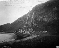 One of the captured sealers from British Columbia 1888 at Iliukiuk, Unalaska, AK, 1888-89. Photo