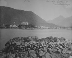 Sitka, AK, settlements and buildings, 1889. Photo