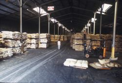 Peruvian fishmeal in a warehouse in Port Hueneme, California Photo