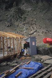 Scientists were building their camp at the Seal Island field station when this photo was taken in 1991 Photo