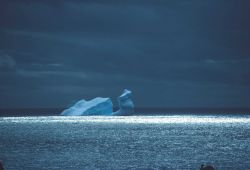 A grounded iceberg called a