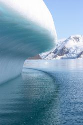The edge of an iceberg, melting in the Austral summer. Photo