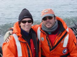 AMLR scientists Steve Sessions and Adam Jenkins. Photo