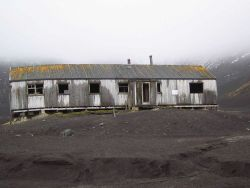 An abandoned camp at Deception Island. Photo