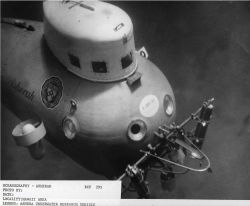 The submersible ASHERAH, a small two-man research vehicle operated by the University of Pennsylvania Penn Museum between 1964 and 1969 Photo