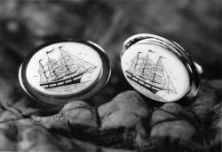 Scrimshaw cufflinks Photo