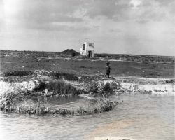 Enclosure (kraal) along the shore of Andros Island, Bahama Islands, where sponges are left to decay Photo