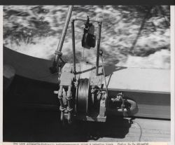 Hydraulic bathythermograph winch and metering block on board the Fisheries Research Vessel HUGH M Photo