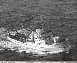 BCF Fisheries Research Vessel ALBATROSS IV underway on maiden voyage. Photo