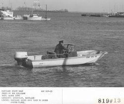 Maryland state patrol boat monitors oystering among other duties Photo