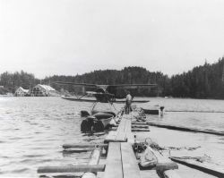 Airplane used by Fish and Wildlife Service in Alaska. Photo