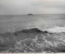 FWS ship DENNIS WINN, coastal freighter 244-540, anchored off St Photo