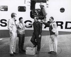 CBS News crew at open house of ALBATROSS IV Photo
