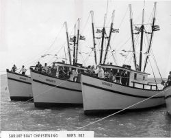 Christening of new shrimp boats acquired by the Dorado Fishing Cooperative in Puerto Rico. Photo