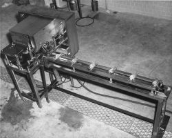 Assembled commercial prototype of a crab cleaner-debacker machine developed by the American Scientific Corporation for BCF Photo