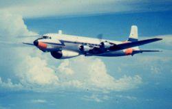 Weather Bureau DC-6 N6539C in flight Photo