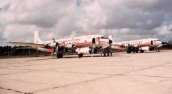 Weather Bureau DC-6's on the ground - N6539C in foreground, N6540C in background Photo