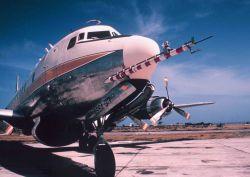 Weather Bureau DC-6 N6539C on tarmac with ESSA designator Photo