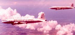 NOAA DC-6 N6540C in flight. Photo
