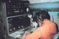 Navigator Fitch at the navigator station. Photo