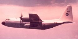 NOAA C-130 N6541C in flight. Photo