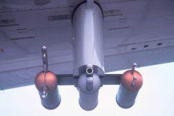 Wing-mounted sensors on NOAA C-130 N6541C Photo