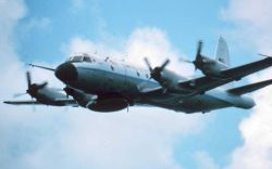 NOAA P-3 in flight Photo