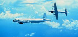 Both NOAA P-3's in flight Photo