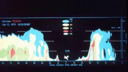 Precipitation intensity display of Hurricane Fred derived from tail doppler radar. Photo