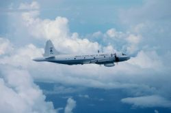 NOAA Lockheed WP-3D Orion turboprop aircraft, a P-3 variant. Photo