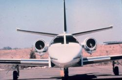 NOAA Cessna 550 Citation II used for photogrammetric and remote sensing. Photo
