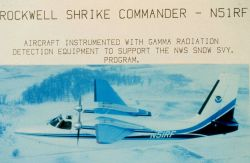Rockwell Shrike Commander - N51RF - Aircraft instrumented with gamma radiation detection equipment to support the NWS snow svy program. Photo