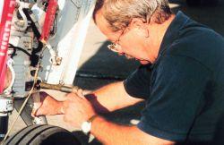 Gordon Kitson inspecting Gulfstream IV Photo