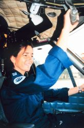 Lieutenant Michele Finn in Twin Otter Photo