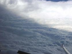 Eyewall of Hurricane Katrina south of Louisiana landfall. Photo