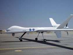 Global Hawk unmanned aerial vehicle (UAV) used for science by NASA and NOAA. Photo