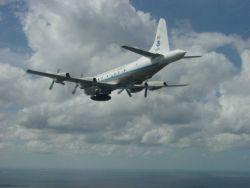 NOAA P-3 hurricane hunter aircraft N42RF. Photo
