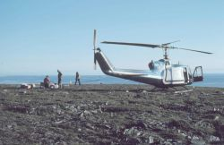 Bell UH-1M supporting scientific studies. Photo