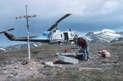 Bell UH-1M supporting seismic surveys on the Alaska Peninsula. Photo
