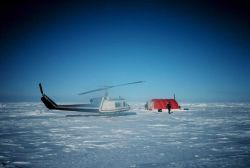 Camp for conducting seal studies north of Prudhoe Bay. Photo
