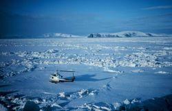 Ice studies west of Sledge Island just west of Norton Sound. Photo